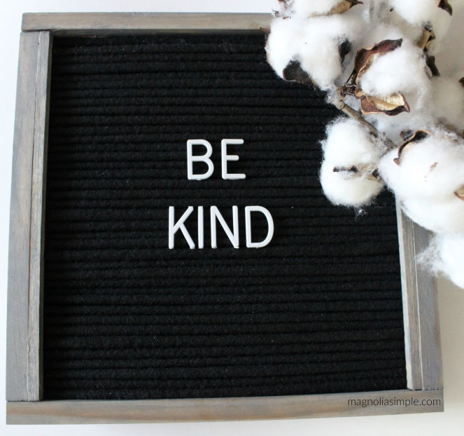 be-kind-letterboard